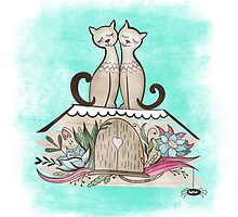 Vintage Cats in Love  by kisikoida