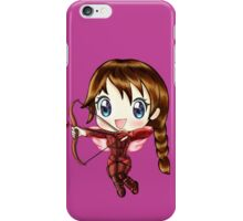Cupid Katniss- Hunger Games inspired (Love Themed Day Hand-Drawn Illustration) iPhone Case/Skin