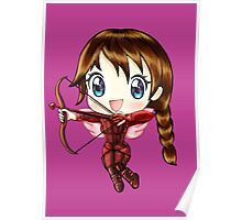 Cupid Katniss- Hunger Games inspired (Love Themed Day Hand-Drawn Illustration) Poster