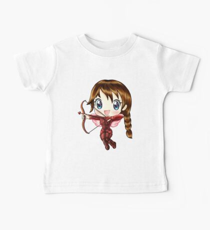 Cupid Katniss- Hunger Games inspired (Love Themed Day Hand-Drawn Illustration) Baby Tee