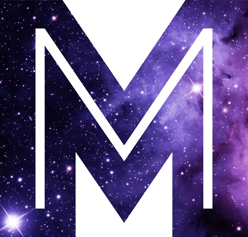 the letter m   space stickers by mike gallard redbubble
