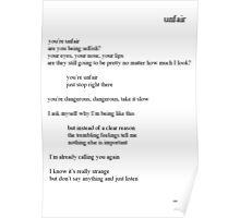 EXO - Unfair Lyrics Poster