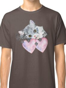 kitten and heart   Classic T-Shirt