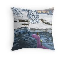 Winters Journey - Earthbound Throw Pillow