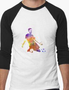 man soccer football player 13 Men's Baseball ¾ T-Shirt