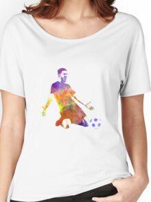 man soccer football player 13 Women's Relaxed Fit T-Shirt