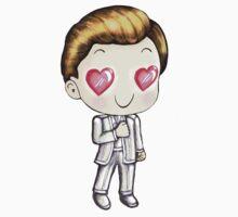 Peeta in Love (Valentine's Day Clipart) Kids Clothes