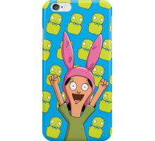 Louise Belcher Light Pattern Blue iPhone Case/Skin