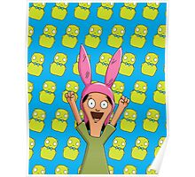 Louise Belcher Light Pattern Blue Poster