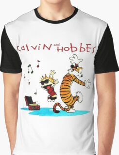 Calvin And Hobbes Dancing Graphic T-Shirt
