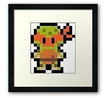 Pixel Michelangelo Framed Print