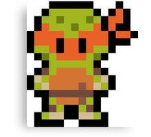 Pixel Michelangelo Canvas Print