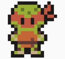 Pixel Michelangelo One Piece - Long Sleeve