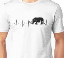 rhino heartbeat Unisex T-Shirt