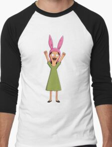 Louise Belcher Light Pattern Black Men's Baseball ¾ T-Shirt