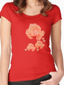 Apricot Rose Women's Fitted Scoop T-Shirt