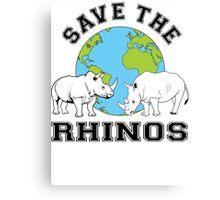 Save the rhinos Canvas Print