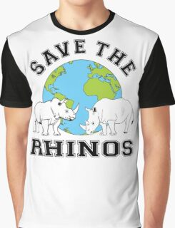 Save the rhinos Graphic T-Shirt