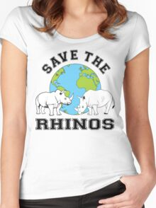 Save the rhinos Women's Fitted Scoop T-Shirt