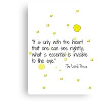 The Little Prince Phrase Canvas Print