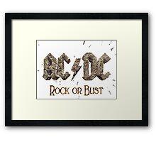 ROCK OR BUST LOGO Framed Print