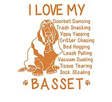 i love basset hound Photographic Print