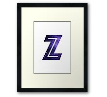 The Letter Z - Space Framed Print