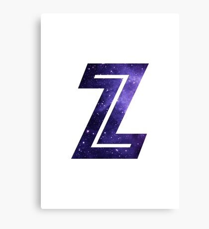 The Letter Z - Space Canvas Print