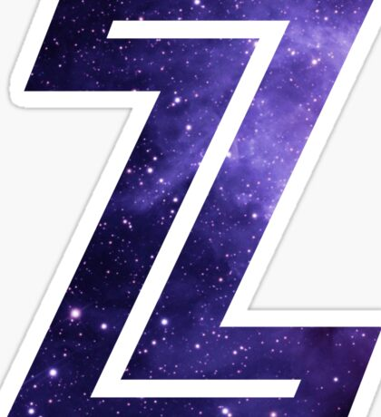 The Letter Z - Space Sticker