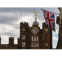 British Symbols and Landmarks - Union Jack and the Pearly Clock Photographic Print