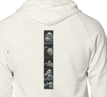 Dolphins bubbles Zipped Hoodie