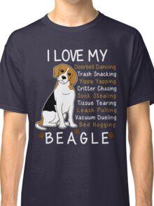 i love beagle  Classic T-Shirt