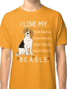 i love beagle  Classic T-Shirt