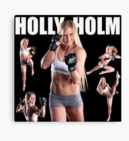 HOLY HOLM UFC CHAMPION Canvas Print
