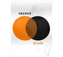 Orange & Black - Venn Diagram Poster