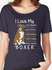 i love my boxer Women's Relaxed Fit T-Shirt