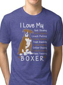 i love my boxer Tri-blend T-Shirt