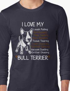 i love my bull terrier Long Sleeve T-Shirt