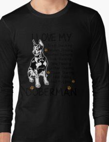 i love my doberman Long Sleeve T-Shirt