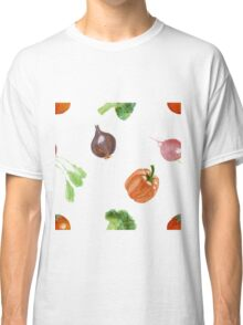 Watercolor vegetables party Classic T-Shirt