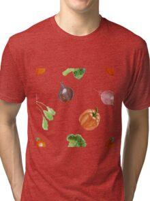 Watercolor vegetables party Tri-blend T-Shirt