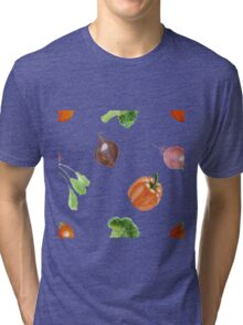 Watercolor vegetables party Tri-blend T-Shirt