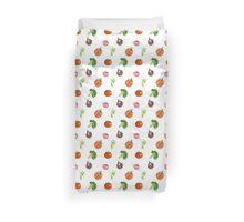 Watercolor vegetables party Duvet Cover