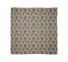 Gold and Black Squirrels Pattern Scarf
