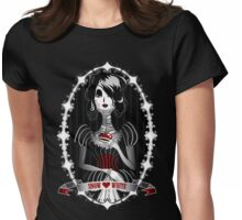 Gothic Snow White Womens Fitted T-Shirt