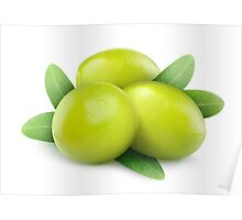 Three green olives Poster