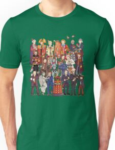 The party doesn't start until the Doctor walks in...twelve times Unisex T-Shirt