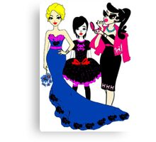 Glamour, Emo and Rockabilly gals unite Canvas Print