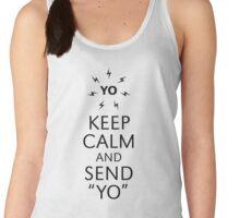 "Keep Calm And Send ""YO"" (Black) Women's Tank Top"