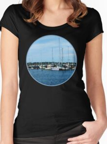 Boats At Newport RI Women's Fitted Scoop T-Shirt